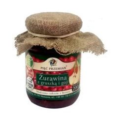 Konfitura z żurawina, gruszką i jagodami goji z ksylitolem 200g (konfitura)