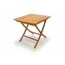 Stół ogrodowy DIVERO z drewna tekowego 80 x 80 cm