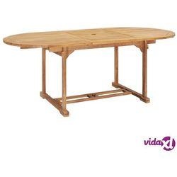 vidaXL Rozkładany stół ogrodowy, 150-200x100x75 cm, lite drewno tekowe (8718475708056)