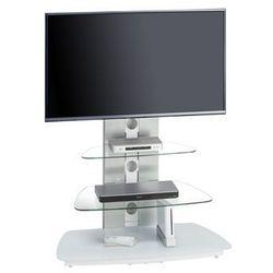 Stolik pod telewizor, 130 cm, biały, szkło, metal, 16189446 marki Maja-möbel
