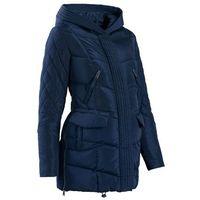 Płaszcz ciążowy pikowany z regulacją obwodu bonprix ciemnoniebieski, płaszcz