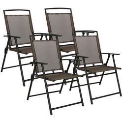 Krzesło ogrodowe 4szt. na balkon, tarasowe brązowo-czarne