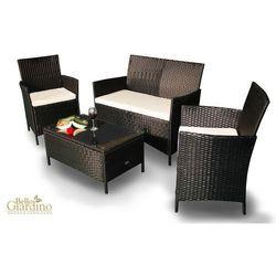 Zestaw mebli ogrodowych comodo czarny (zo.015.103) od producenta Bello giardino
