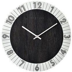 Zegar ścienny flare srebrny marki Nextime