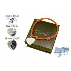 Bransoletka sznurkowa serce s grawer zdjecia+etui wyprodukowany przez Victoriaw.