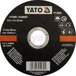 Tarcza do cięcia kamienia 115x1,5x22 mm / YT-5930 / YATO - ZYSKAJ RABAT 30 ZŁ