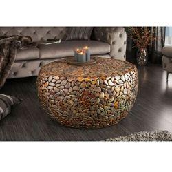 Invicta stolik mosaic 85 cm miedziany - metal, aluminium marki Sofa.pl