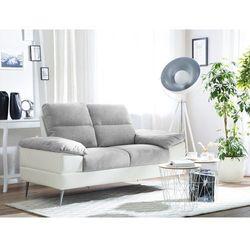 Sofa dwuosobowa tapicerowana szara tjome marki Beliani