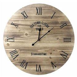 Mondex Duży zegar do zawieszenia ścienny 60 cm drewno