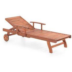 Beliani Drewniana leżanka ogrodowa, leżak toscana (7081455386553)
