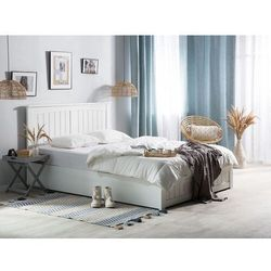 Łóżko z pojemnikiem 160 x 200 cm białe TARBES (4251682226233)
