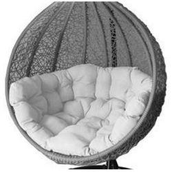 Fotel wiszący, huśtawka szaro-biały COCOON