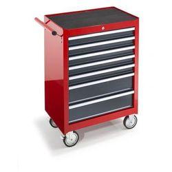Wózek warsztatowy, wys. x szer. x głęb. 995x680x458 mm, 7 szuflad, czerwony. Do