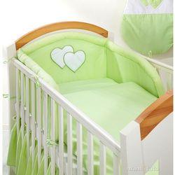 MAMO-TATO pościel 2-el Serduszka w zieleni do łóżeczka 70x140cm, kup u jednego z partnerów