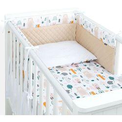 3-el pościel do łóżeczka 70x140 lux velvet pik - forest / piaskowy marki Mamo-tato