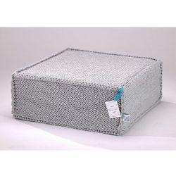 Szary szydełkowy puf Soft Flat - We Love Beds