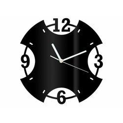 Zegar z pleksi na ścianę Pierścień z białymi wskazówkami, kolor czarny