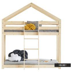 Selsey łóżko piętrowe dalidda domek z drabinką z przodu