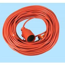 Przedłużacz 1-gniazdowy pomarańczowy 20m ip20 plast-rol marki Abex
