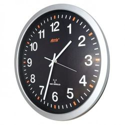Zegar srebrny 350mm sterowany radiowo #2, ATE2035BRC