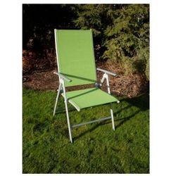 Krzesło ogrodowe składane ANF-26C jasno-zielone, regulacja oparcia