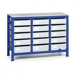 B2b partner Regał z metalowymi szufladami, 15 szuflad
