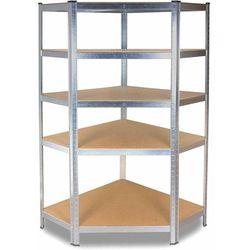 Topeshop Regał metalowy, magazynowy, narożny, garażowy, 175 kg (5902838469606)