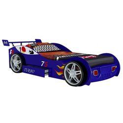 Vente-unique Łóżko w kształcie samochodu runner z szufladą - 90 × 200 cm - niebieski
