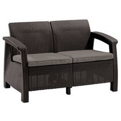 Allibert sofa ogrodowa corfu love seat brązowy (3253929115165)