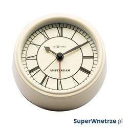Zegar stojący 11 cm Nextime Amsterdam kremowy, kolor Zegar
