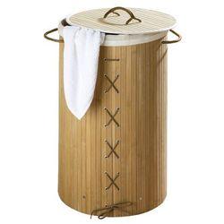 Bambusowy kosz na pranie, jasny brąz, 55 litrów, marki Wenko
