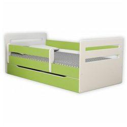 Łóżko dla dziecka z barierką Candy 2X 80x160 - zielone, Kocot-łóżko-tomi-zielone-80x160