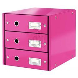 Leitz Pojemnik, szafka Click & Store z 3 szufladami (10K268G) Darmowy odbiór w 20 miastach!, 10K268G