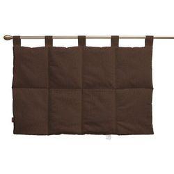 wezgłowie na szelkach, czekoladowy szenil, 90 x 67 cm, chenille marki Dekoria