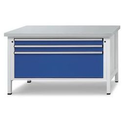 Stół warsztatowy z szufladami XL/XXL,szer. 1500 mm, 3 szuflady