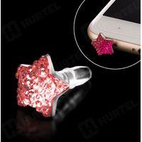 Zatyczka mini jack kolor różowy jasny - Różowy Jasny - produkt z kategorii- Gadżety