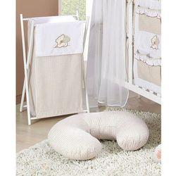 MAMO-TATO Kosz na bieliznę Miś z serduszkiem brąz z białym z kategorii Kosze na pranie