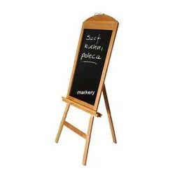 Stojak reklamowy l130 i tablica czarna drewno marki Lemi
