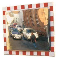 Lustro drogowe, z chromo-niklowej stali, nierdzewnej, wym. lustra: szer. x wys. marki Unbekannt