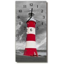Zegar Szklany Pionowy Krajobrazy Latarnia morska kolorowy, kolor wielokolorowy