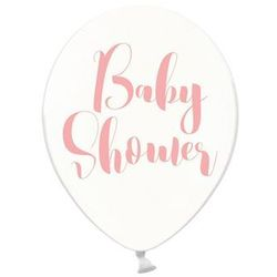 Party deco Balony przezroczyste na baby shower dziewczynki - 30 cm - 50 szt.