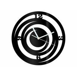 Zegar z pleksi na ścianę spirale z białymi wskazówkami marki Congee.pl