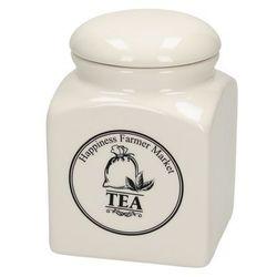pojemnik na herbatę farmer market 15cm, 10,5 × 10,5 × 15 cm marki Dekoria