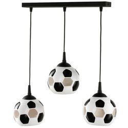 LAMPA wisząca LAMP 651/3L metalowa OPRAWA listwa ZWIS do pokoju dziecka piłka nożna kule balls białe czarne
