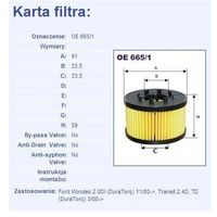 Filtr oleju oe 665/1 wyprodukowany przez Filtron