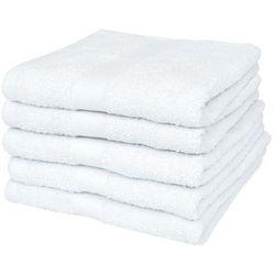 Vidaxl Ręczniki kąpielowe, 5 szt, bawełna, 500 g/m², 100x150 cm, białe
