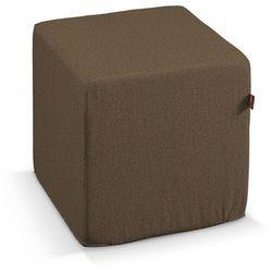 Dekoria pokrowiec na pufę kostke, brązowo-khaki, kostka 40 × 40 × 40 cm, edinburgh