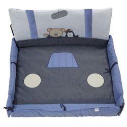 ALVI Uniwersalny wkład do kojca z nadrukiem plus Car Driver kolor niebieski z kategorii Pozostałe meble do pokoju dziecięcego