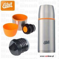 Termos iso vacuum flask 0,5 l stalowy - 2 kubki, 2 korki, srebrny marki Esbit
