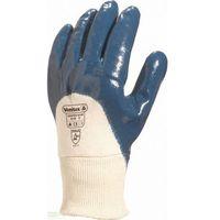 Rękawice nitrylowe do prac ciężkich z wentylowaną stroną grzbietową marki Venitex